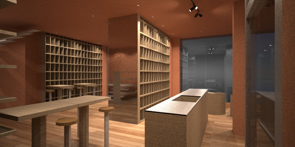 rendering wine bar